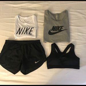 ❌ SOLD nike bundle -muscle tank T shirt shorts